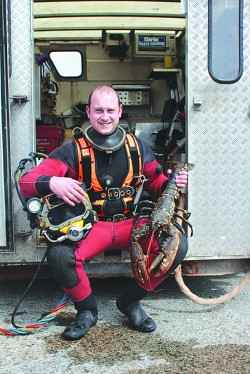Chris with lobster