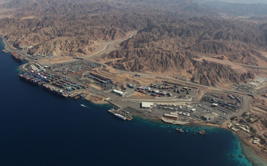 Birds eye view of Aqaba container terminal