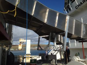 Ocean Kinetics carry out works on the MV Research