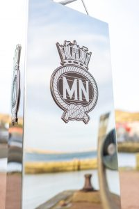 Stainless steel memorial crafted for the Seafarers by Ocean Kinetics