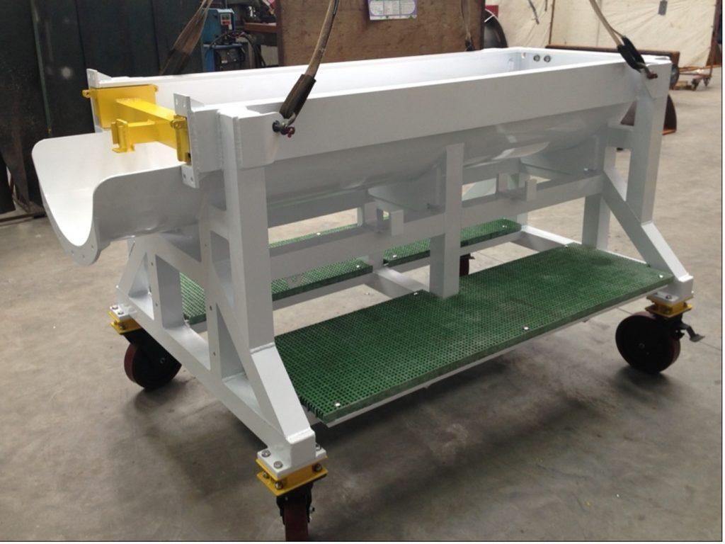 Clair pipeline pig launching trolley by Ocean Kinetics