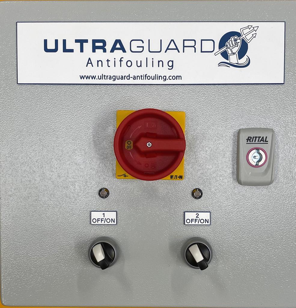 Ultraguard Antifouling switch panel close up