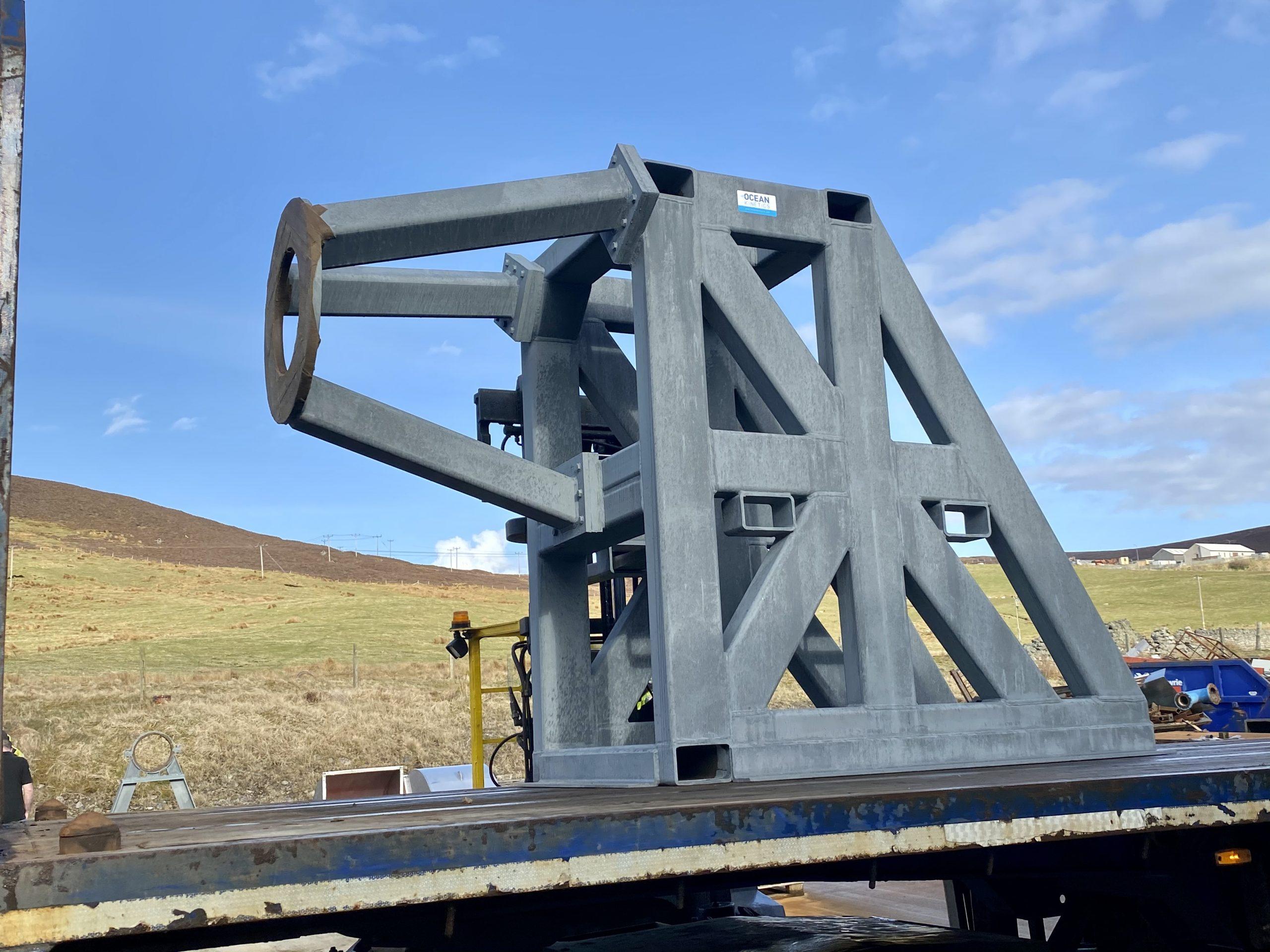 Rocket frame metalwork fabricated by Ocean Kinetics