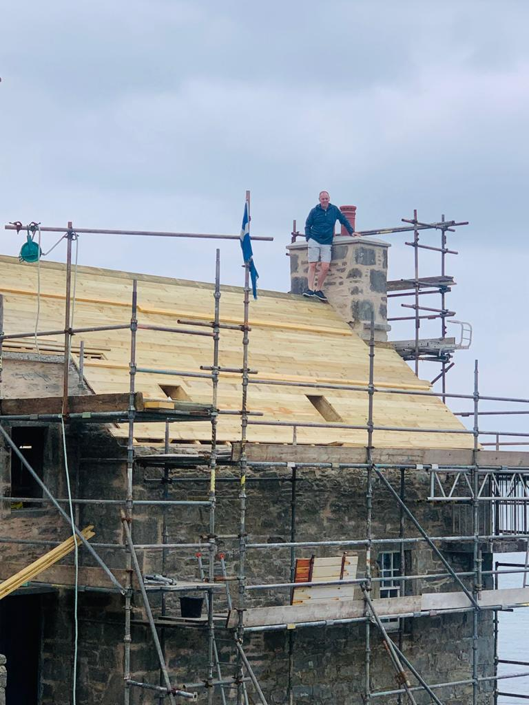 New roof on the Copeland Lodberry in Lerwick
