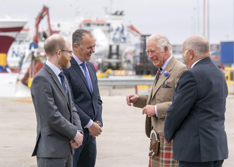 Prince Charles meets Ocean Kinetics MD John Henderson and