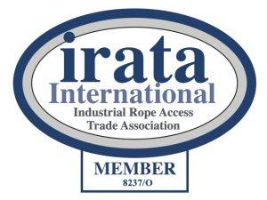 Industrial rope access trade association membership certificate for Ocean Kinetics